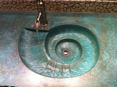 concrete countertop sink molds nautilus sink amazing to watch the water go down from
