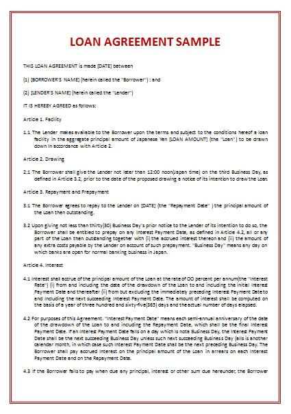 loan agreement template 45 loan agreement templates sles write agreements