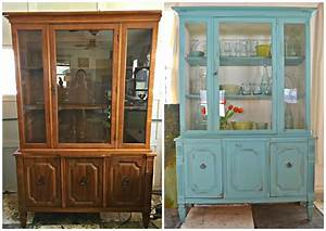 Heir, And, Space, A, Vintage, Hutch, In, White, And, Aqua