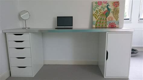 extra long computer desk extra long white desk with drawers google search on the hunt