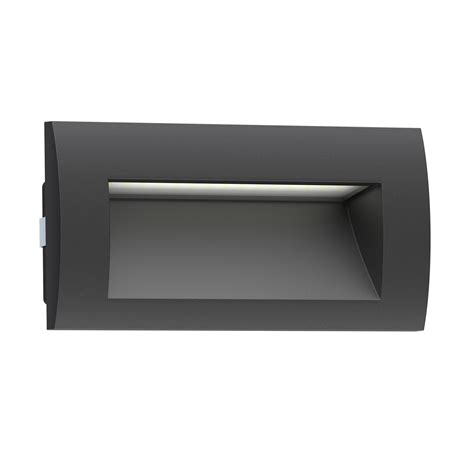 led recessed wall light zibal for outdoor black warm