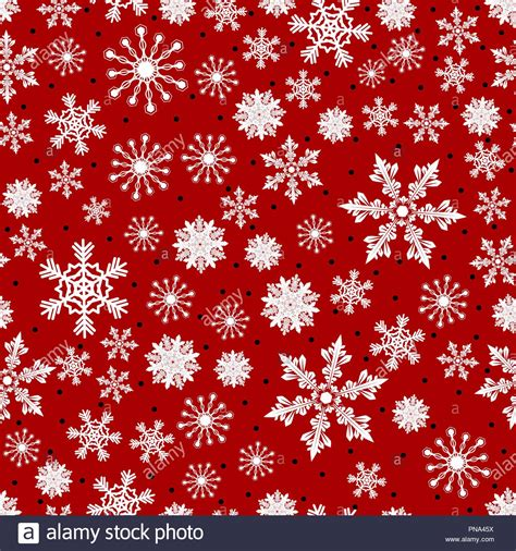 christmas pattern   snowflakes  dots vector