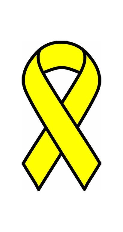 Cancer Ribbon Yellow Svg