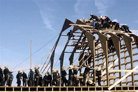 Amish Barn Raising by Image Gallery Amish Countryside