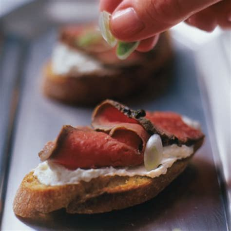 beef canape recipes beef tenderloin canapés williams sonoma