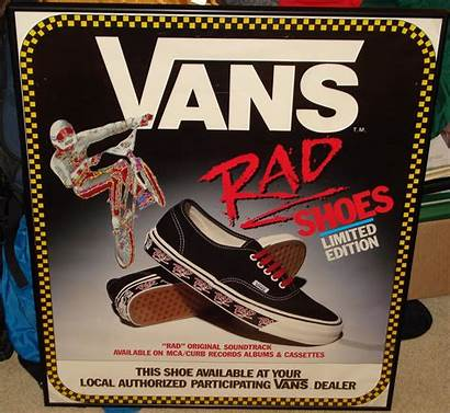 Vans Rad Bmx Shoes Poster 1986 80
