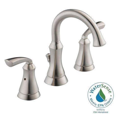 delta mandara 8 in widespread 2 handle bathroom faucet in