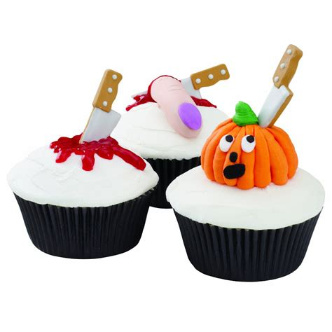 Wilton Halloween Knife Cupcake Icing Decorations - The