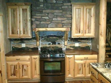 Tile Kitchen Ideas - rustic kitchen love the backsplash log cabin cottage ideas pinterest rustic kitchen