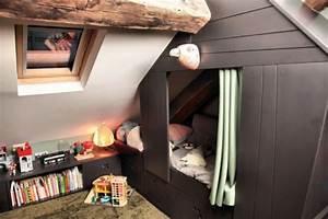 Construire Un Lit Cabane : une cabane dans les combles r ve de combles ~ Melissatoandfro.com Idées de Décoration