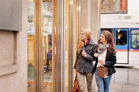 Window Shopping by Two Window Shopping Stock Photo Dissolve