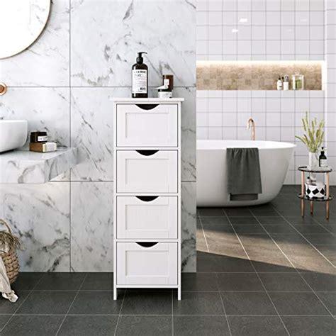 vasagle badezimmerschrank schmaler badschrank aus holz