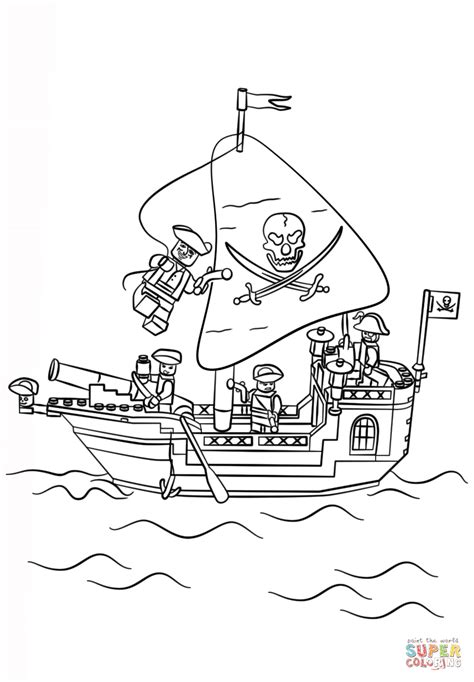 lego pirate ship coloring page  printable coloring pages