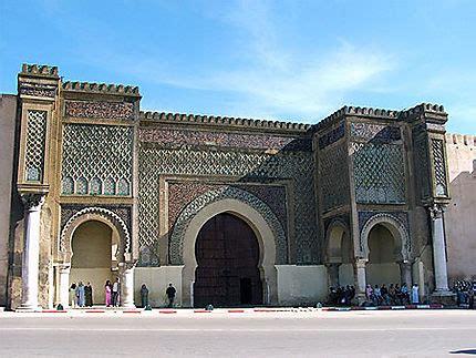 porte de la medina de meknes meknes nord du maroc