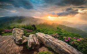 Appalachian, Mountains, Tennessee, Sunset, Landscape