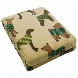 buy dog bone print plush pet blanket in multi from bed With rip proof dog blanket