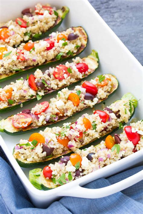 How To Make Zucchini Boats On The Grill by Quinoa Grilled Zucchini Boats Kristine S Kitchen