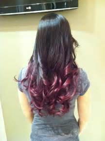 Dark Brown Burgundy Ombre Hair Color