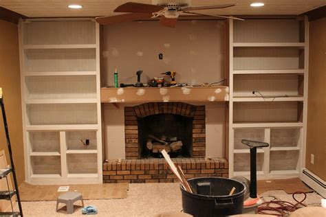 premade built in cabinets built in bookshelves around fireplace american hwy
