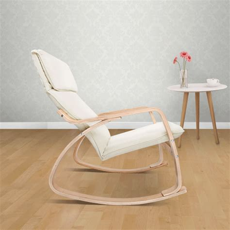 ebay rocking chairs australia bentwood rocking arm chair cushion wooden lounge fabric
