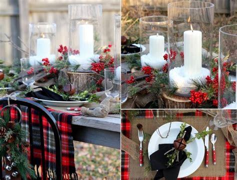 Weihnachtsdeko Für Gartentisch by Outdoor Winter Wedding Tablescape Plaid Berries