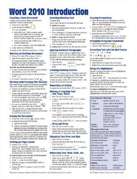 microsoft word  introduction quick reference guide