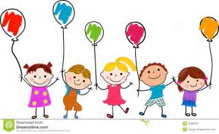 typing learning program of children and balloon stock image image 35469201
