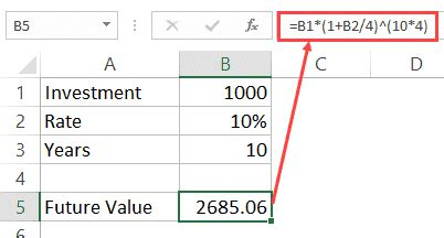 How To Calculate Compound Interest In Excel + Free Calculator