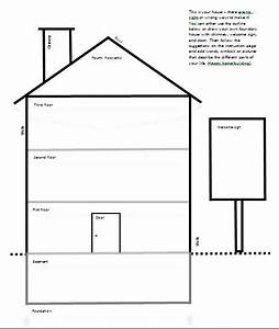 template for quotdraw your housequot activity psychology With printable house template for kids