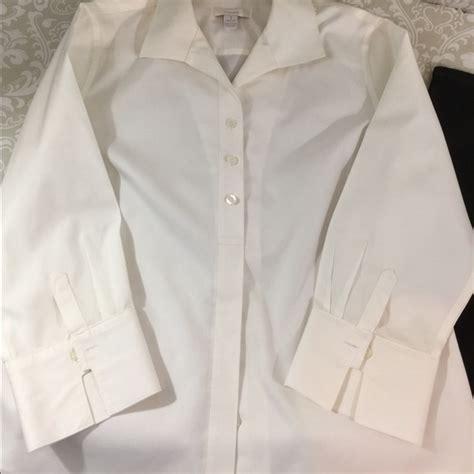 chicos white blouse 77 chico 39 s tops white cotton no iron chico 39 s blouse