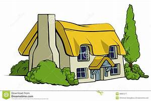 Cottage clipart country cottage - Pencil and in color ...