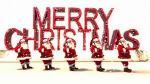 Santa Line up dancing with Merry Christmas text: Royalty ...  Merry