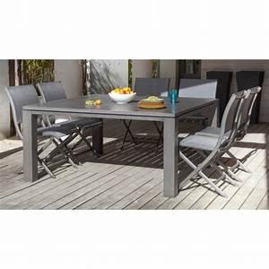Table Aluminium De Jardin : table de jardin carr e latino aluminium brush oc o ~ Teatrodelosmanantiales.com Idées de Décoration