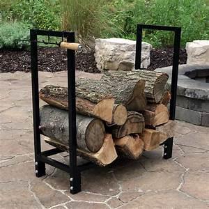 Black, Steel, Firewood, Log, Rack, Indoor, Outdoor, Storage, 30-inch