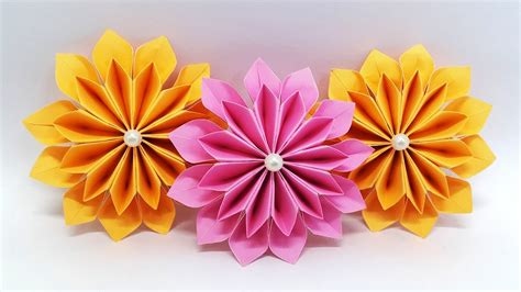 diy paper flowers easy making tutorial origami flower