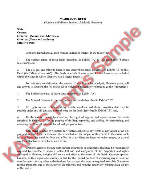 general warranty deed sample  printable documents