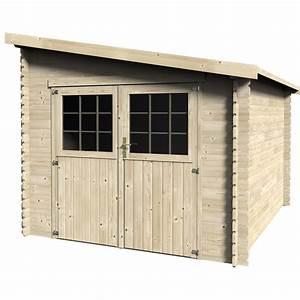 Abri de jardin bois Esprit, 7 29 m² Ep 28 mm Leroy Merlin