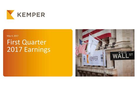 Kemper is a multifaceted insurance holding company that sells auto, home and small business insurance products. Kemper Corporation 2017 Q1 - Results - Earnings Call Slides (NYSE:KMPR) | Seeking Alpha