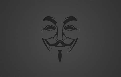 Обои Гай Фокс, Фон, Anonymous, Минимализм, Маска