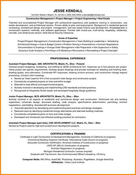 Project Management Experience In Resume by 6 Project Management Experience Introduction Letter