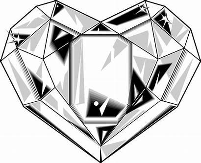 Diamond Heart Illustration Shaped Clipart Vector Shape