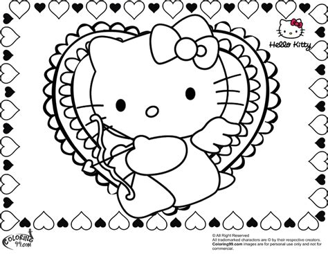 Love Hello Kitty Coloring Pages