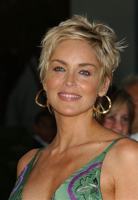 12 Impressive Sharon Stone Short Hairstyles   Pretty Designs
