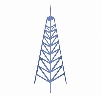 Tower Cell Telecommunication Network Towers Clipart Stencils
