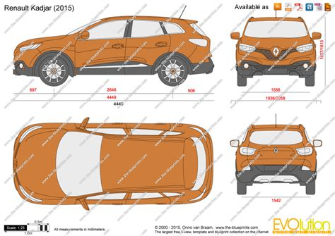 renault kadjar vector drawing
