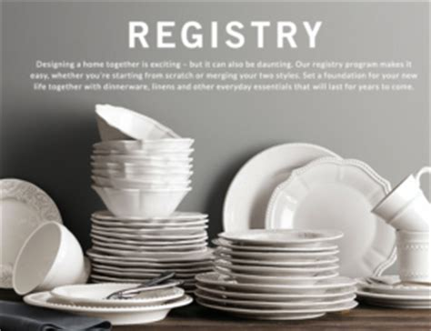 pottery barn gift registry top 10 places for wedding registries in 2017 best stores