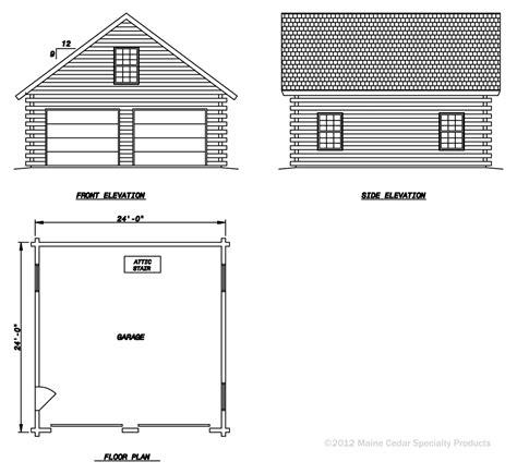 Double Garage With Loft Cedar Log Garage  Maine Cedar Log