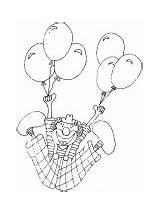 Clown Coloring Juggler Flying sketch template