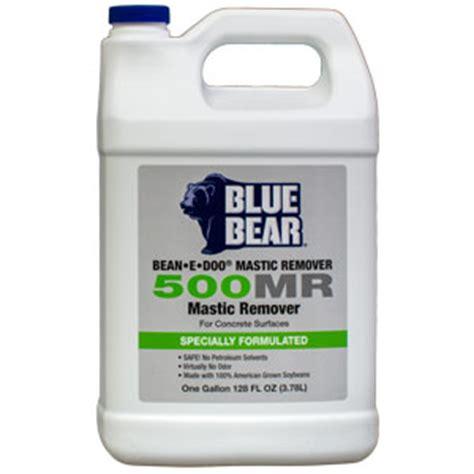 blue bear  mastic  adhesive remover bean  doo