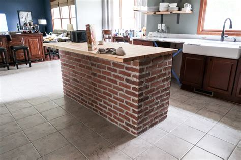 Diy Brick Kitchen Island + Behind The Scenes Of Our